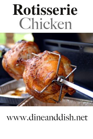 Rotisserie Chicken at home with this easy recipe from dineanddish.net