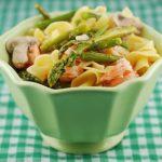 Shrimp Asparagus Pasta Dish