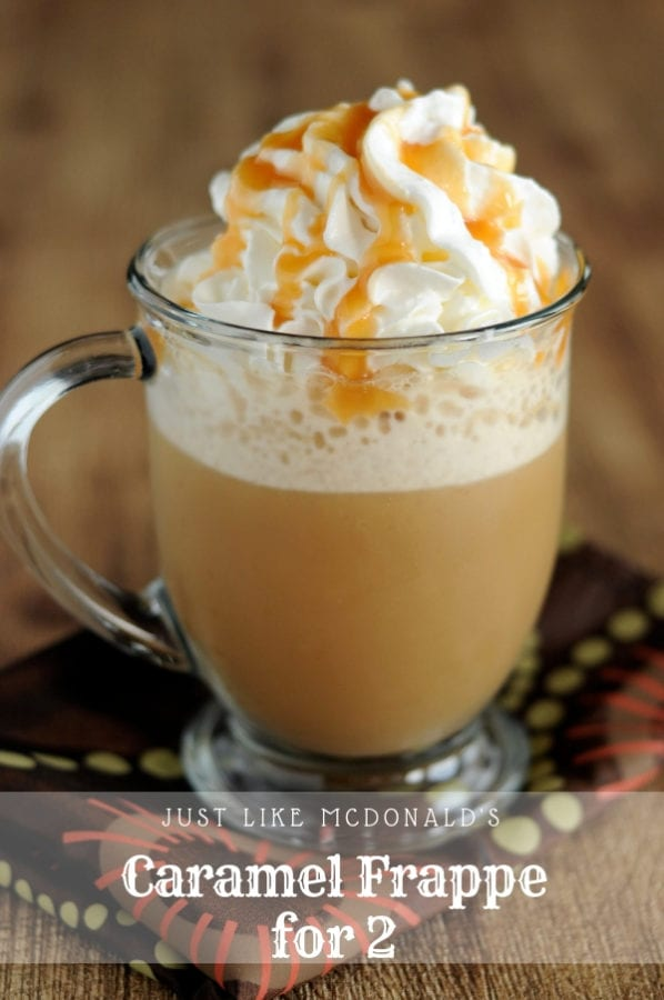 Like McDonald's Caramel Frappe Recipe from dineanddish.net