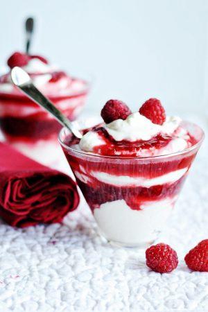 Paula Deen Raspberry Parfait - Cooking with Paula Deen Magazine