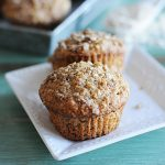 Applesauce Oatmeal Streusel Muffins made with Quaker Oats