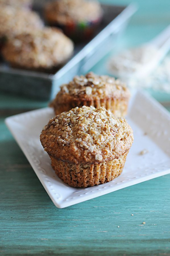 Applesauce Oatmeal Streusel Muffins - Dine and Dish