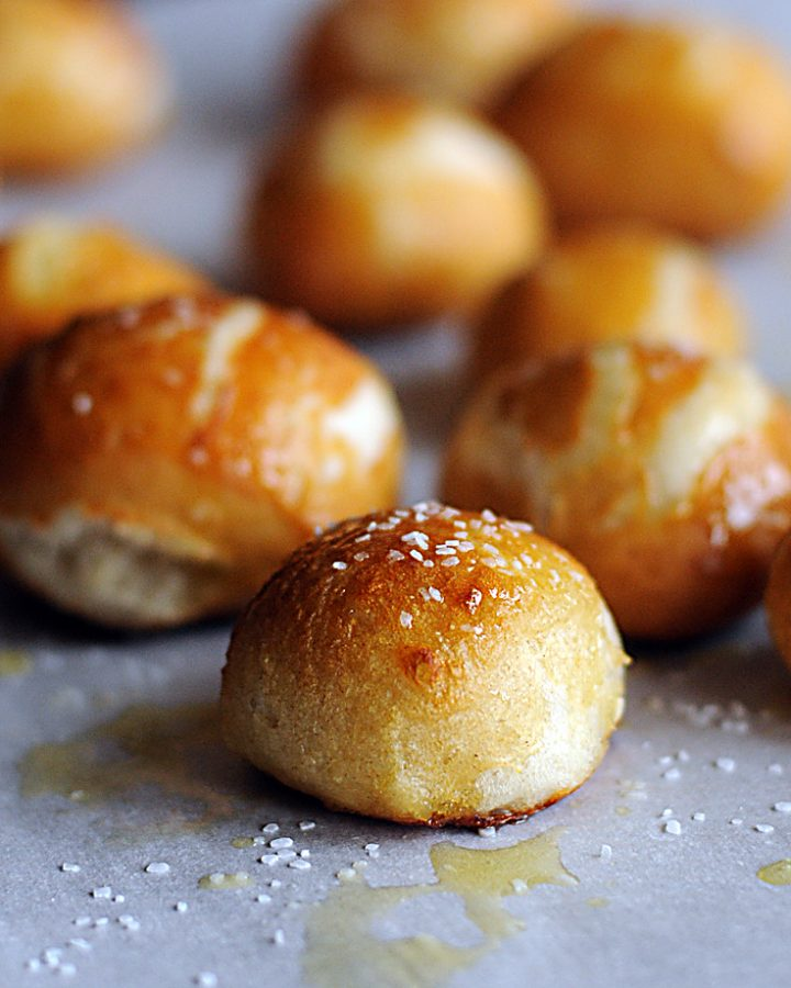 Homemade Pretzel Bites using the Bread Machine