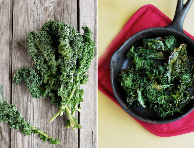 Kale Chips and Raw Kale