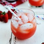 Strawberry Lemonade Spritzer Recipe from Dine and Dish