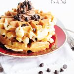 Cookie Dough Waffles recipe on dineanddish.net