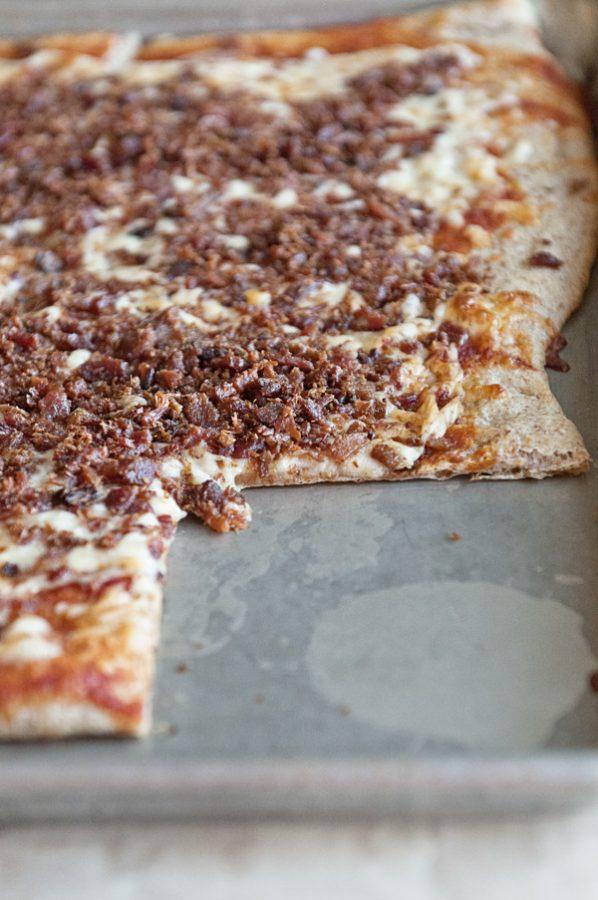 Loaded Bacon Bits Pizza Like Monical's