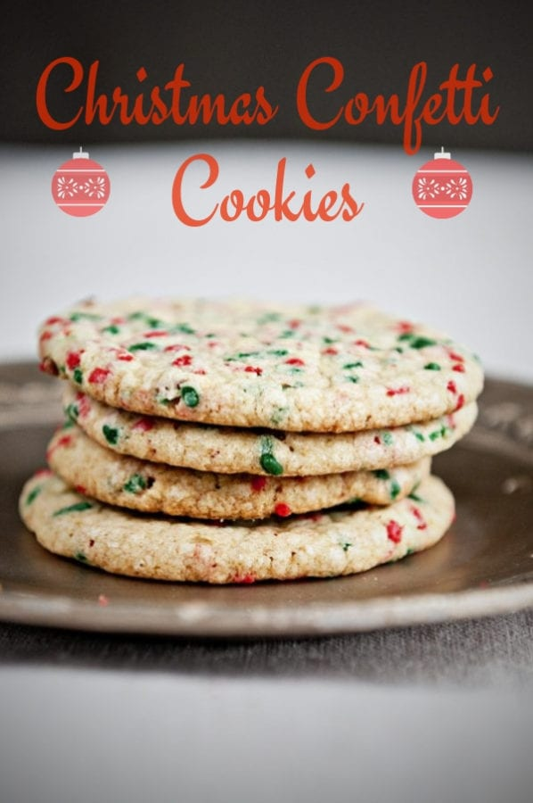 Confetti Christmas Cookies are perfect for your holiday cookie exchange!
