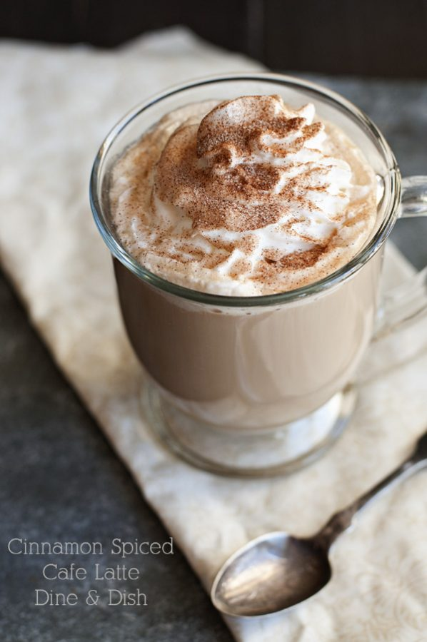 Photo of Cinnamon Spiced Cafe Latte by www.dineanddish.net