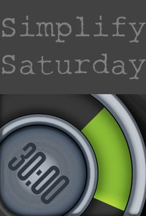 Simplify Saturday 30/30 Time Management App www.dineanddish.net
