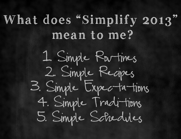 """What the word """"simplify"""" in 2013 means to me www.dineanddish.net"""