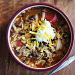 Sweet Mesquite Taco Soup from Dine & Dish