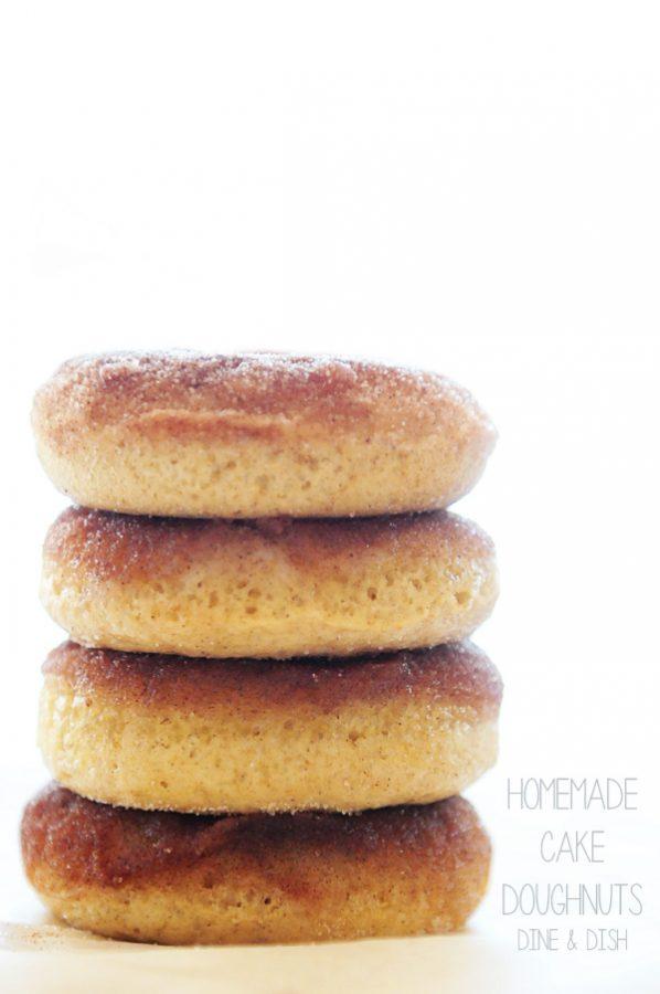 Homemade Cake Doughnuts with Biscoff Glaze www.dineanddish.net