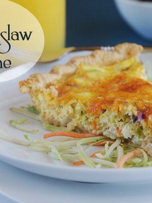 Cheesy Slaw Quiche