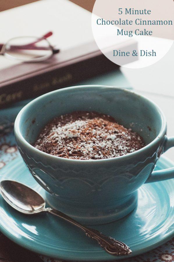 5 Minute Chocolate Cinnamon Mug Cake