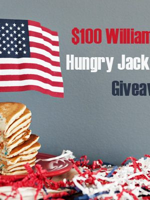 $100 Williams Sonoma Gift Card and Hungry Jack Prize Pack Giveaway!
