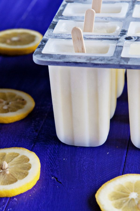 Creamy Lemonade Popsicle Recipe from Dine and Dish