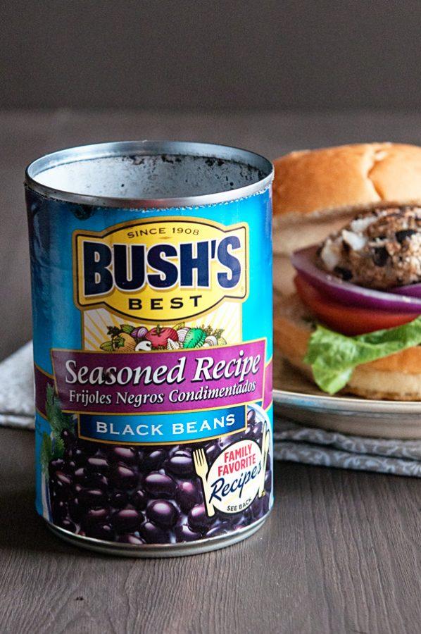 Bush's Black Beans used for the best Black Bean Veggie Burgers