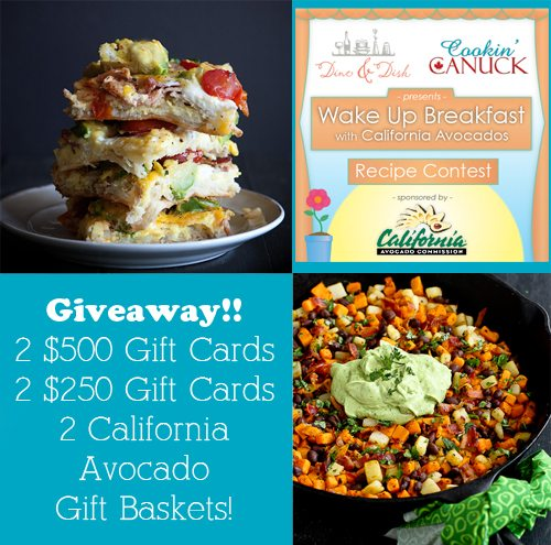 Wake Up Breakfast with California Avocados Recipe Linkup and Giveaway www.dineanddish.net