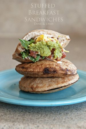 DIY Stuffed Breakfast Sandwiches from www.dineanddish.net