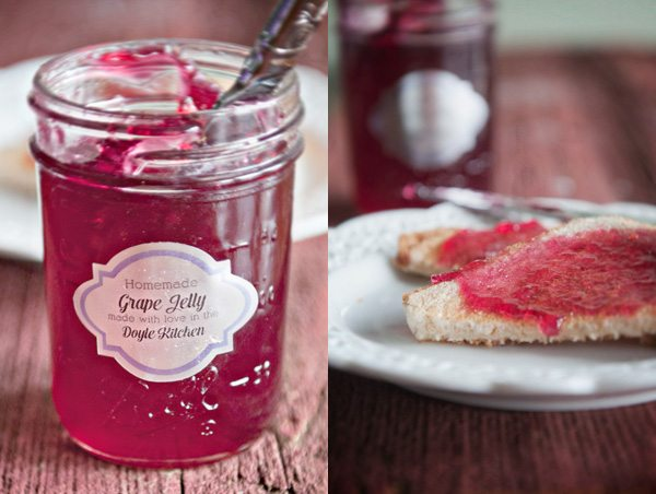 Homemade Grape Jelly with Toast Recipe