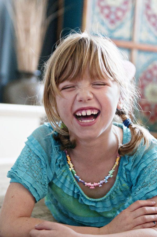Photo of Ella age 7 lauging