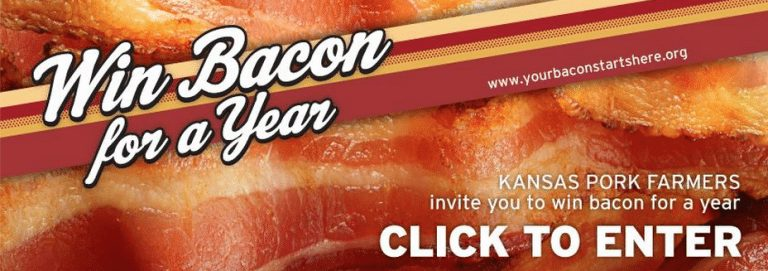 Win Free Bacon for a Year with the KS Pork Association
