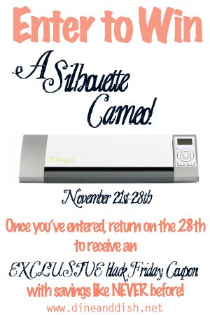 Silhouette Cameo Giveaway from dineanddish.net