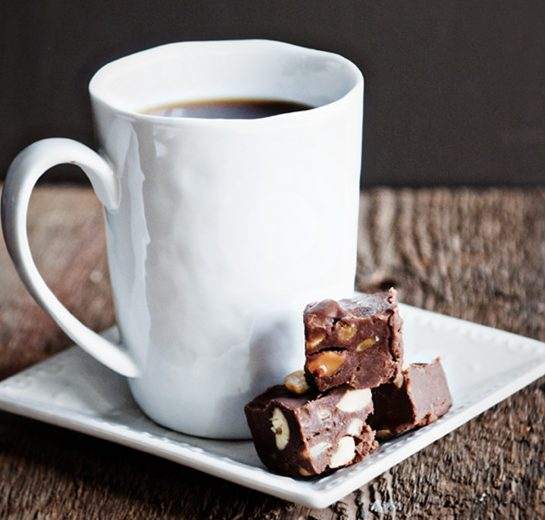Chocolate Caramel Cashew Fudge Recipe