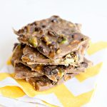 Toasted Pistachio Toffee Brittle dineanddish.net