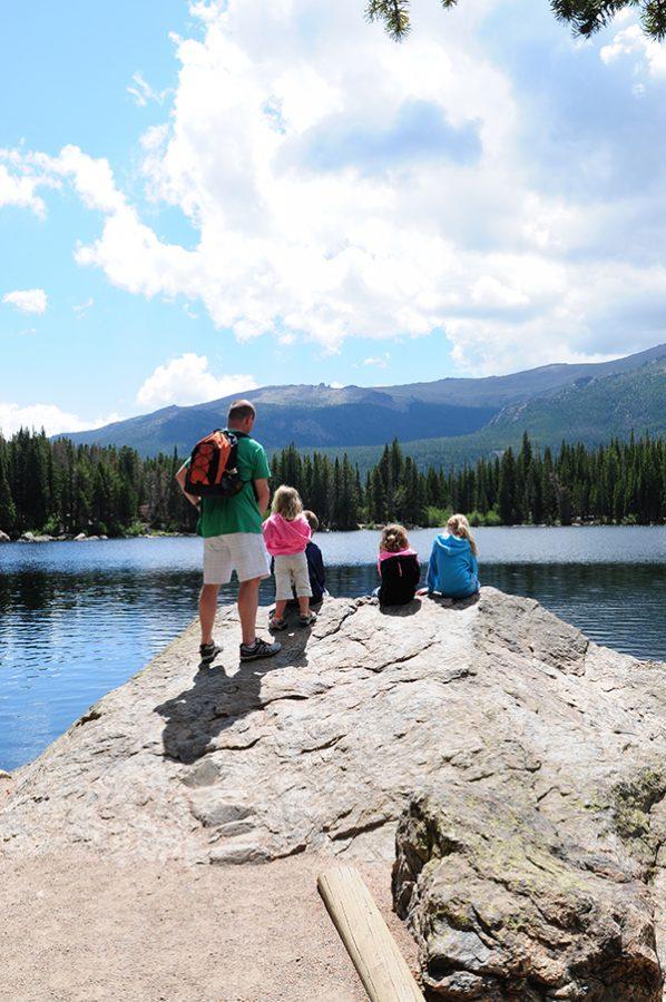 Sitting at Bear Lake RMNP