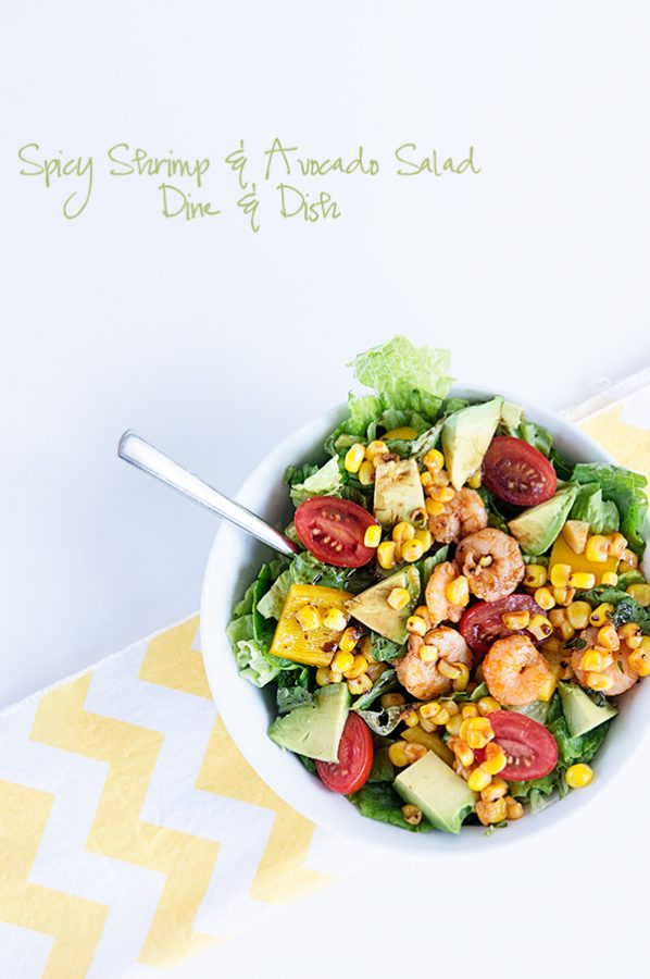 Spicy Sriracha Shrimp and Fresh California Avocado Salad - because sometimes you want just a little spice in your life!