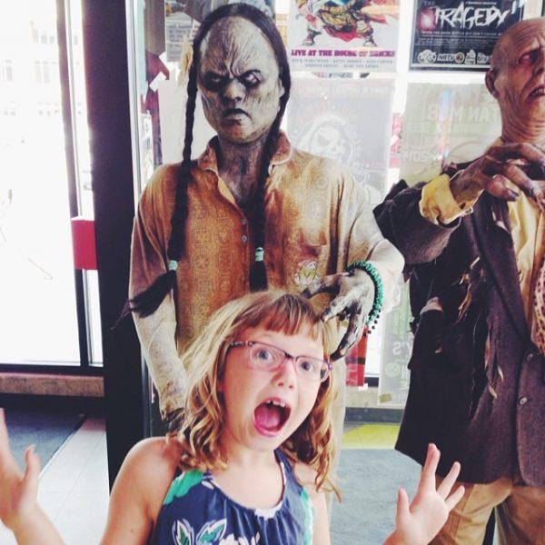 Ella at Zombie Burger in DesMoines Iowa