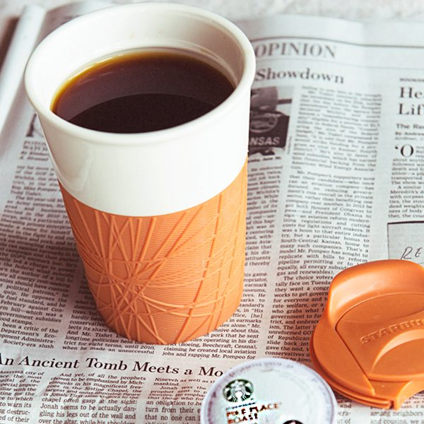 Enter to win a Starbucks K-Cup Pike Place gift pack with a Starbucks tumbler and Moleskine Coffee Notes book