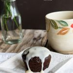 Chocolate Caramel Latte Muffins from dineanddish.net