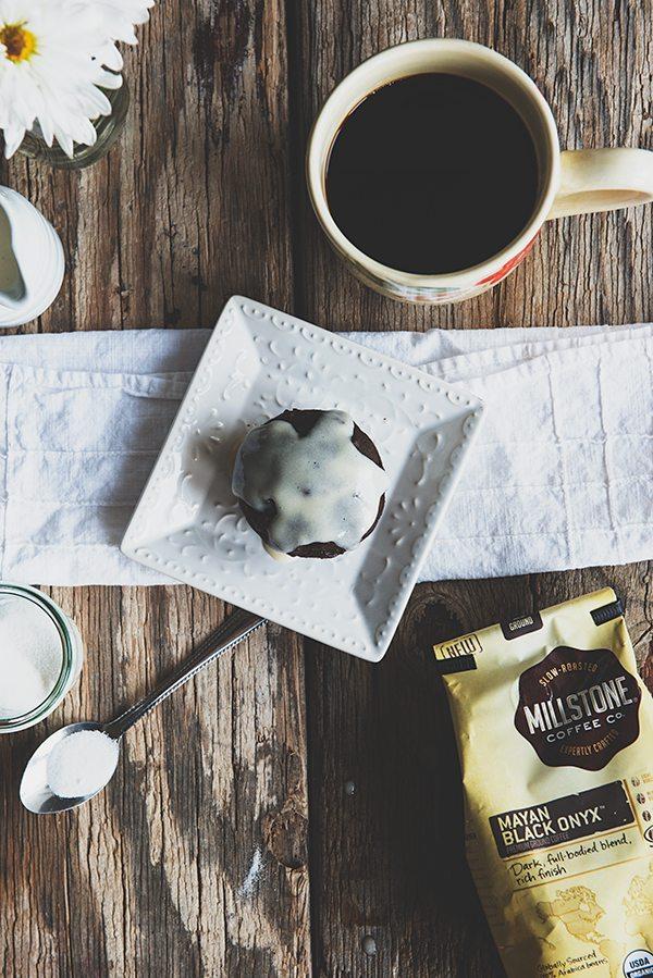 Chocolate Caramel Latte Muffins Recipe on dineanddish.net