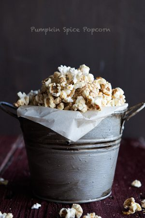 Pumpkin Pie Spiced Popcorn Recipe from dineanddish.net