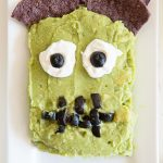 Frankenguac fun halloween party appetizer recipe from dineanddish.net