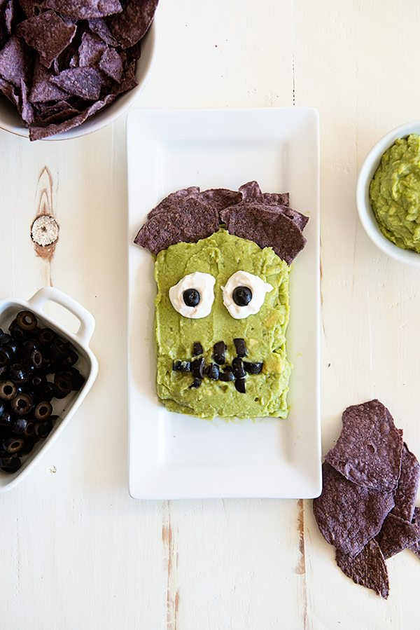 Frankenguac Halloween Party Recipe from dineanddish.net
