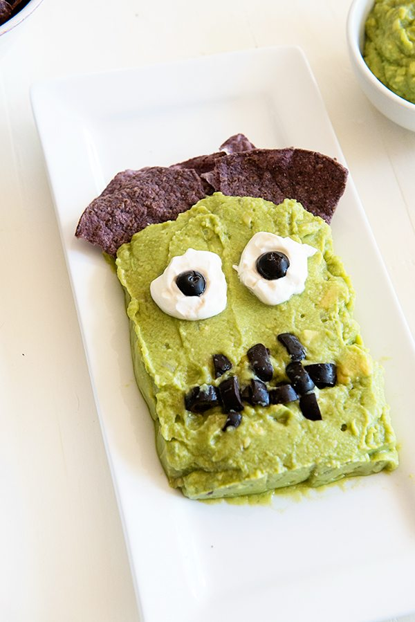 Frankenguac a halloween party appetizer recipe from dineanddish.net