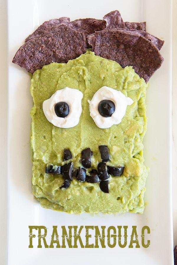 Frankenguac fun halloween party appetizer recipe from dineanddish.net Fun Halloween Food!