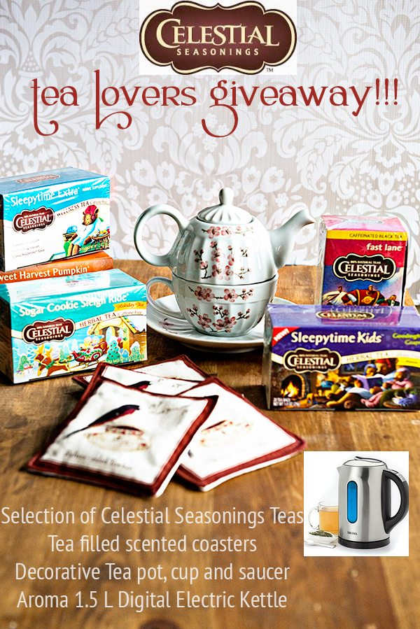 Celestial Seasonings Tea Lovers Giveaway on dineanddish.net