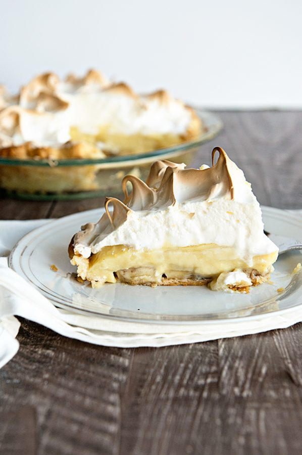 A Classic Banana Cream Pie Recipe that my grandma used to make! Homemade pie is so much easier than you think. This recipe is perfect for the holidays!