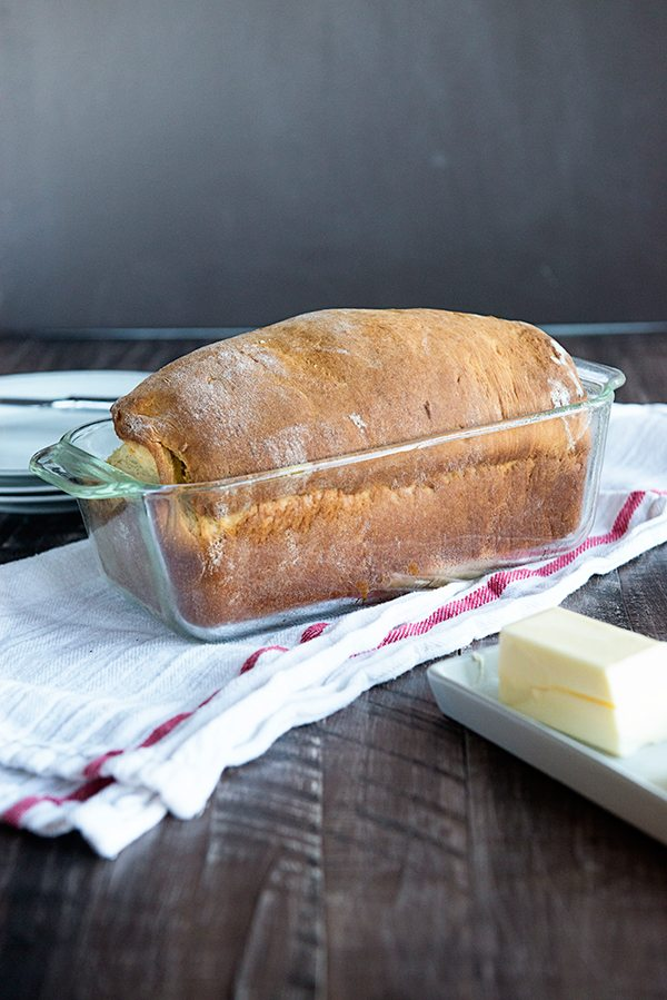 Homemade potato bread recipe from dineanddish.net