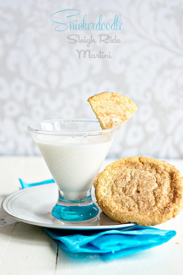 Snickerdoodle Sleigh Ride Martini Recipe from dineanddish.net