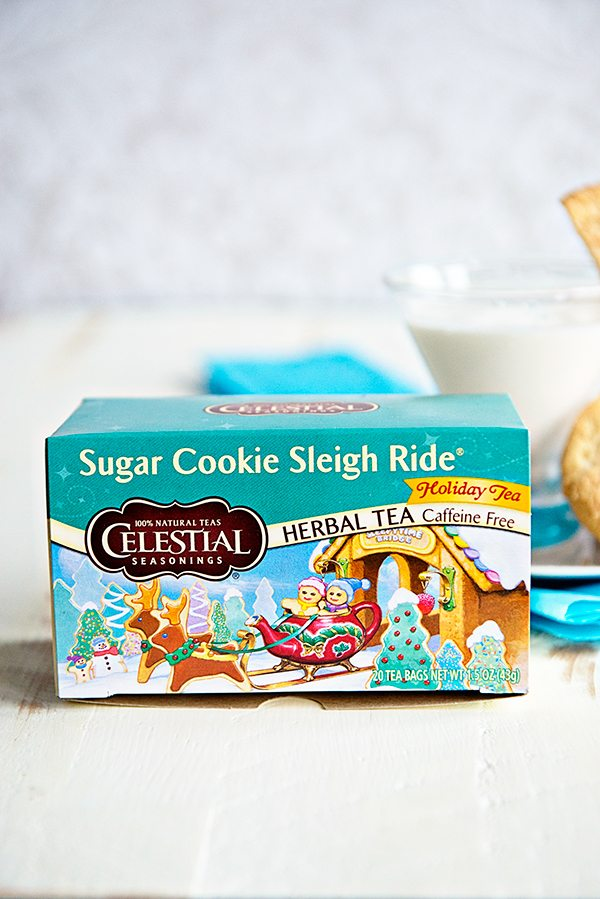 Celestial Seasonings Sugar Cookie Sleigh Ride is infused into vodka for this Snickerdoodle Sleigh Ride Martini Recipe on dineanddish.net