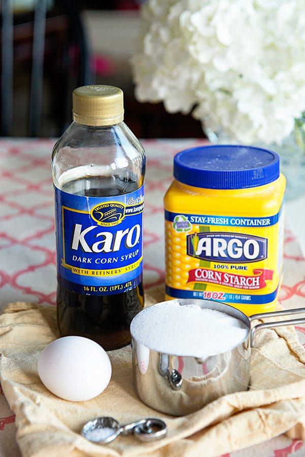 Ingredients for Caramel Custard Pie