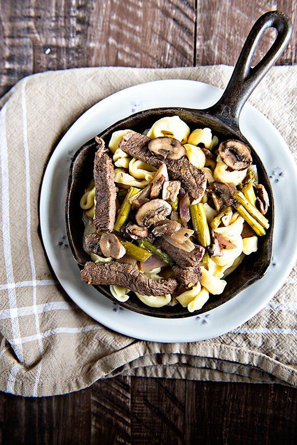 Weekly Menu Plan and Skillet Steak Tortellini and Veggies Recipe on dineanddish.net