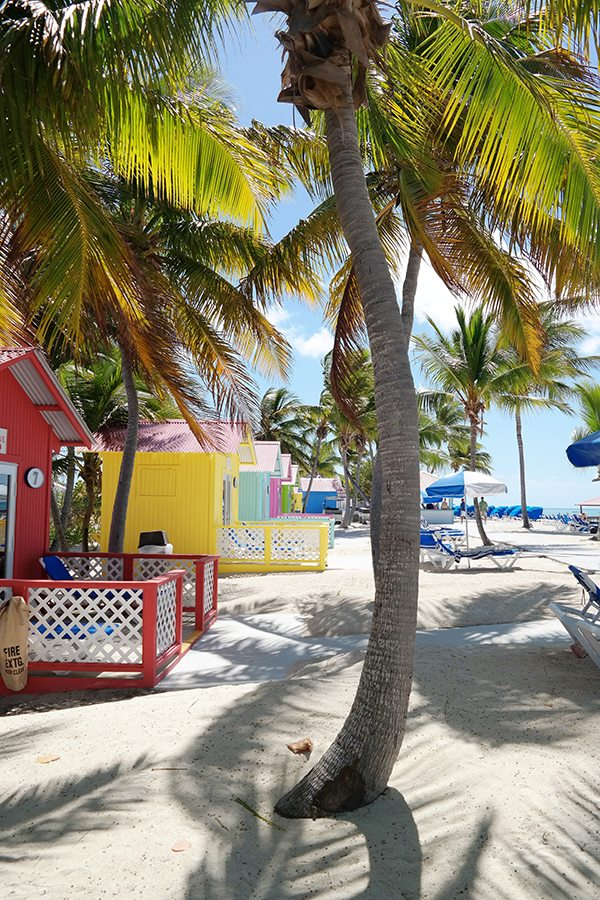 Colorful Cabanas in Princess Cays, Bahamas