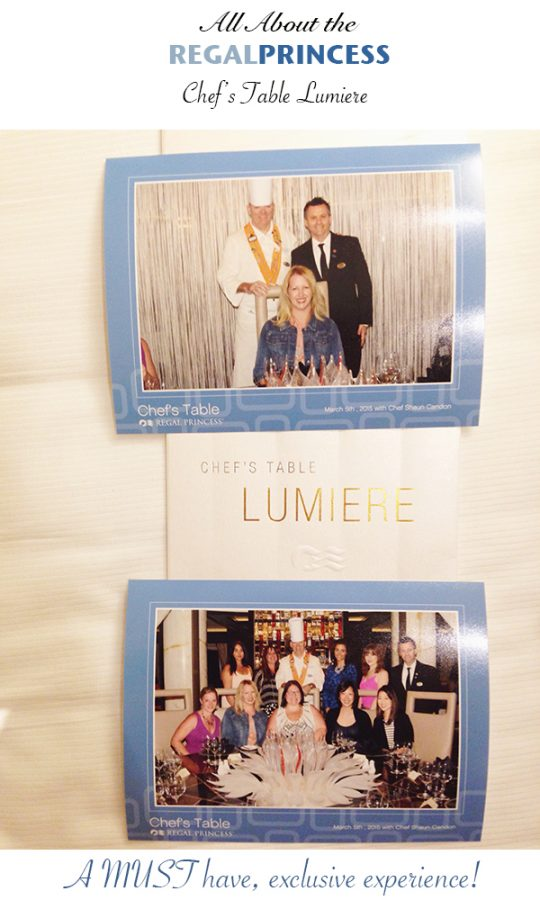 Princess Cruises Chef's Table Lumiere Dining Experience